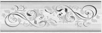 Вставка дек. 20*60 Мармара Ажур серый 17-03-06-659-0 (5 шт), Ceramica Classic