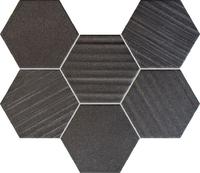 Настенная мозаика Horizon hex black 289x221 / 10mm