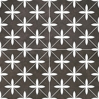 Напольная плитка Poole black 450x450 (225x225) mm