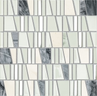 Настенная мозаика Drops stone white 300 x 300 mm