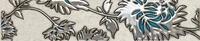 Настенный бордюр Gris flower turkus 74 x 360 mm