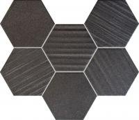 Настенная мозаика Horizon hex black 289x221 / 10mm