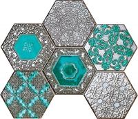 Настенная мозаика Lace absinthe 289 x 221 mm