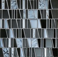 Настенная мозаика Drops stone grey 300 x 300 mm