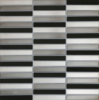 Настенная мозаика Drops metal grey stone 298 x 304 mm