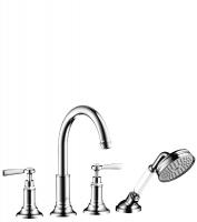 Смеситель AXOR Montreux для ванны, на 4 отверстия, на плитку, 16554820