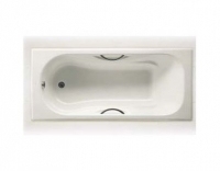 Чугунная ванна Roca Malibu 160*70 см 2334G0000 с отверстиями для ручек