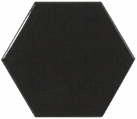 Настенная плитка Hexagono Liso Black 107 x 124 mm