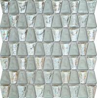 Настенная мозаика Drops glass white 304 x 306 mm