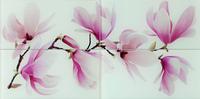 Настенное стеклянное панно Tango flower 448 x 898 mm