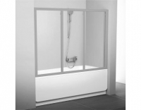 Шторка на ванну Ravak AVDP3-160 Transparent, профиль сатин