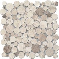 Настенная мозаика Drops stone grey circle 305 x 305 mm