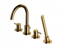 Смеситель Omnires Y Y1232GL для ванны на 4 отверстия, золото