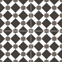 Напольная плитка Howard black 450x450 (225x225) mm