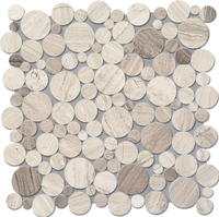 Настенная мозаика Drops stone grey circle 305 x 305 mm