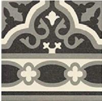 Универсальная плитка Cenefa Florentine black 200 x 200 mm