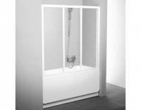 Шторка на ванну Ravak AVDP3-120 Transparent, профиль белый