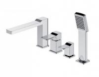 Смеситель Omnires Slide SL7732CR для ванны на 4 отверстия, хром