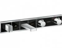 Смеситель для ванны и душа Hansgrohe RainSelect 15359600, 2 потребителя, термостатический, черный/хром