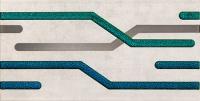 Настенный декор Sharox lines grey 608 x 308 mm