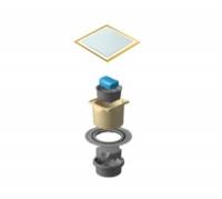 Точечный трап Pestan Confluo Standard Vertical Dry White Glass Gold, 13000181