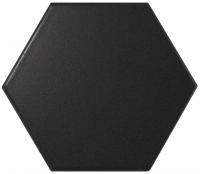 Настенная плитка Hexagono Liso Black Mat 107 x 124 mm