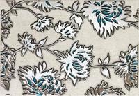 Декор настенный Gris flower turkus 250 x 360 mm