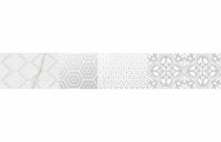 Calacatta Patchwork bianco listwa 60x8, Polcolorit