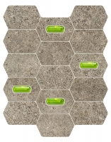 Настенная мозаика Lemon Stone grey 298x250 / 10mm