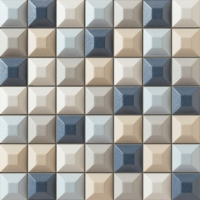 Настенная мозаика Elementary blue 314x314 / 18mm