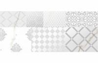 Calacatta Patchwork A bianco decor 60x25, Polcolorit