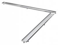 Решетка Tece TECEdrainline Plate 6 110 70 100х100 см под плитку угловая