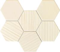 Настенная мозаика Horizon hex ivory 289x221 / 10mm