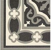 Универсальная плитка Esquina Florentine black 200 x 200 mm