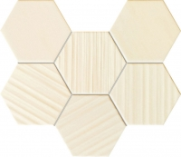 Настенная мозаика Horizon hex ivory 289x221 / 10mm