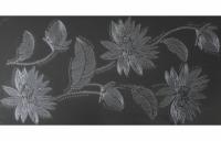Alaska grafit Kwiat decor 60x30, Polcolorit