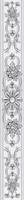 Бордюр Ivory серый вертикальный