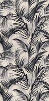 Плитка Тропикаль листья чёрный обрезной