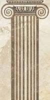 Вставка Помпеи на белом коричневая ВС9ПМ024