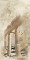 Вставка Помпеи на белом коричневая ВС9ПМ054