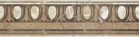 Бордюр Помпеи на белом коричневый БД33ПМ004