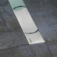Душевой лоток Ravak OZ Chrome 1050 с решеткой, 110 см