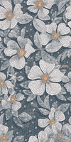 Розелла серый декорированный лаппатированный