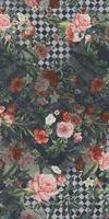 Цветы декорированный обрезной